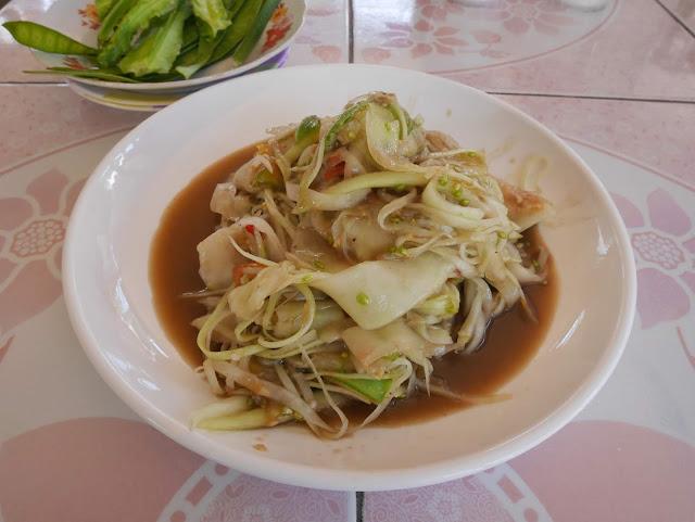 traditional lao-style papaya salad luang prabang laos