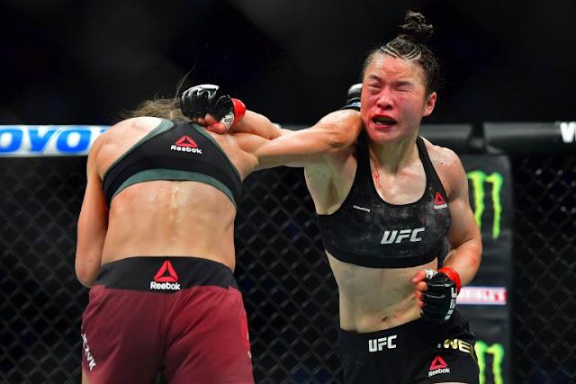 Weili Zhang defeats Joanna Jedrzejczyk at UFC 248