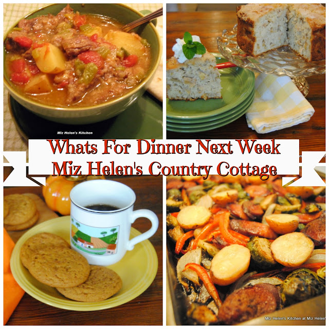 Whats For Dinner Next Week,10-13-19 at Miz Helen's Country Cottage