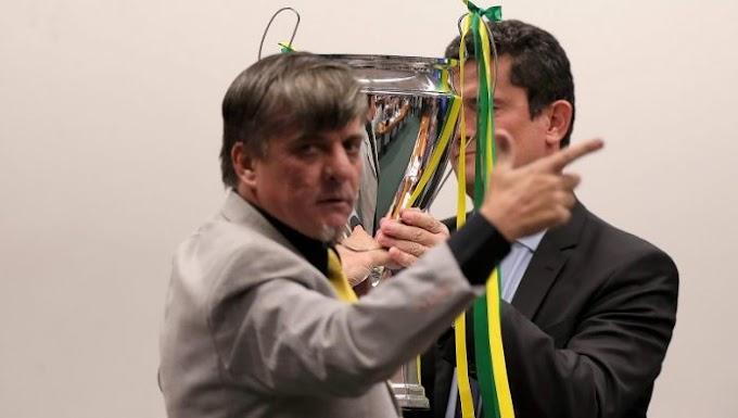 Boca Aberta entrega troféu de campeão contra a corrupção a Sergio Moro