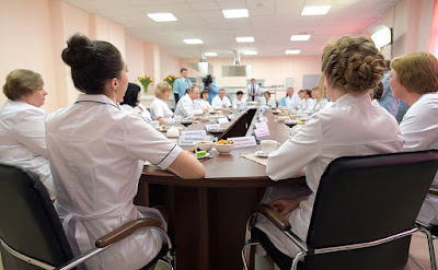 Stuff of the new perinatal centre at Bryansk City Hospital No. 1.