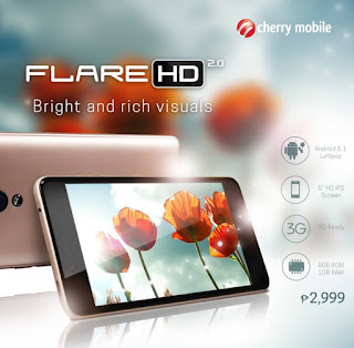 Cherry Mobile Flare HD 2 Now Available for Php2,999