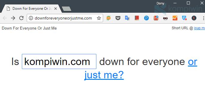 mengecek koneksi internet