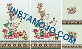 Floral suit kurti for textile print