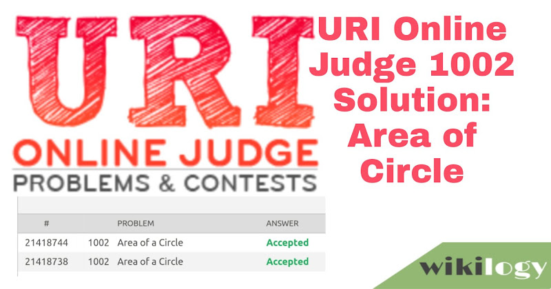 URI online judge 1002 solution: Area of a Circle
