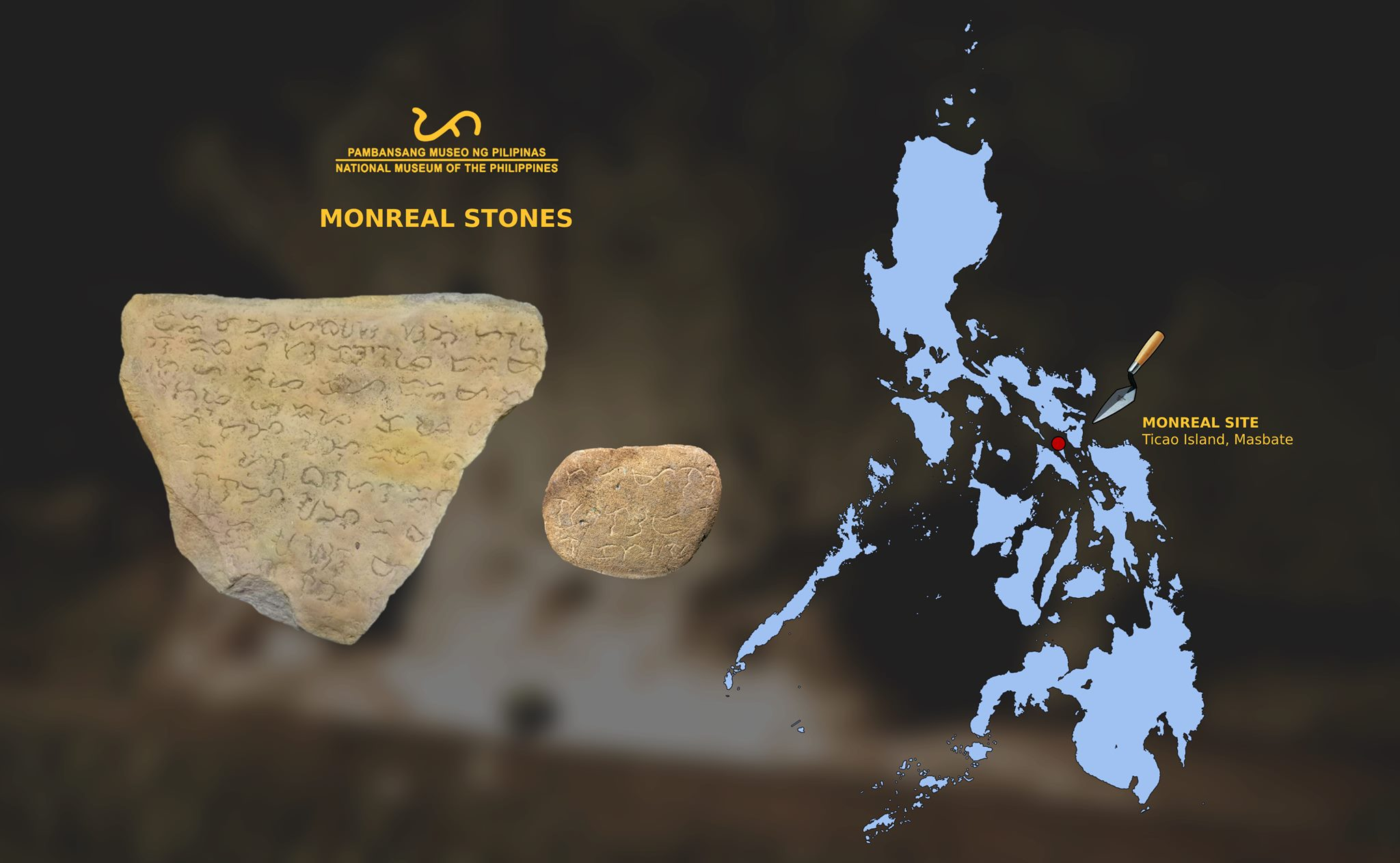 Monreal Stones from Masbate   Interesting Artifact highlighting the Philippine's Distinctive Syllabic Writing Systems