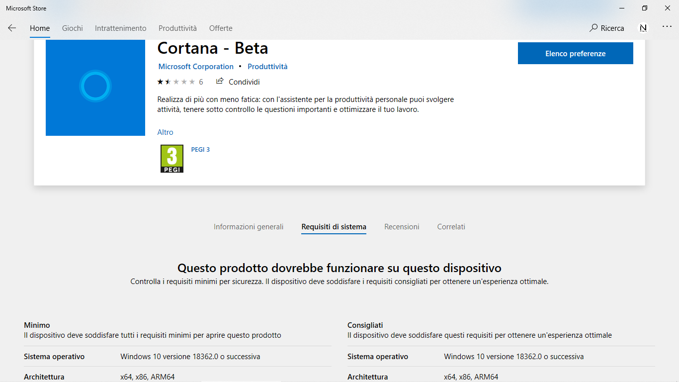Il download della nuova App Cortana - Beta disponibile in italiano e per tutti in Windows 10