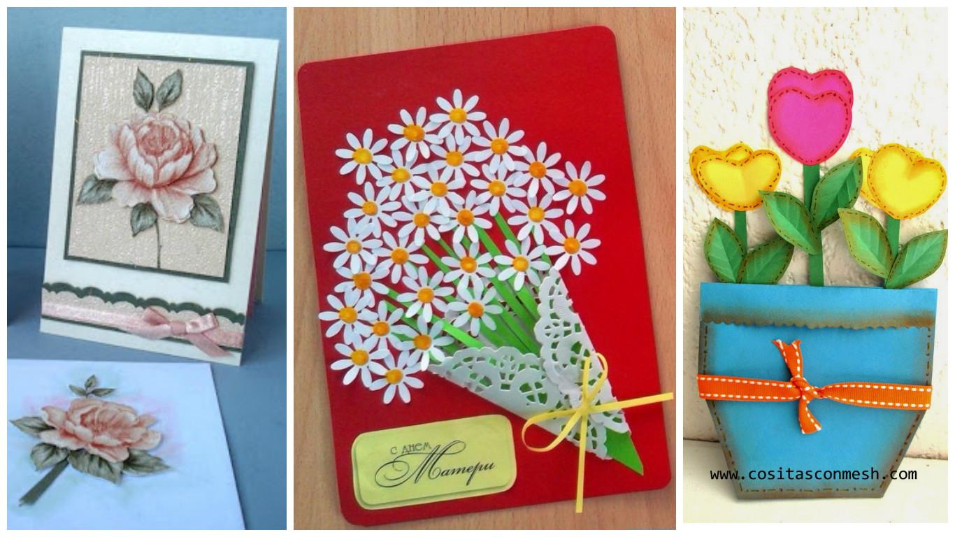 Aprende cmo hacer tarjetas con flores para el da de la madre