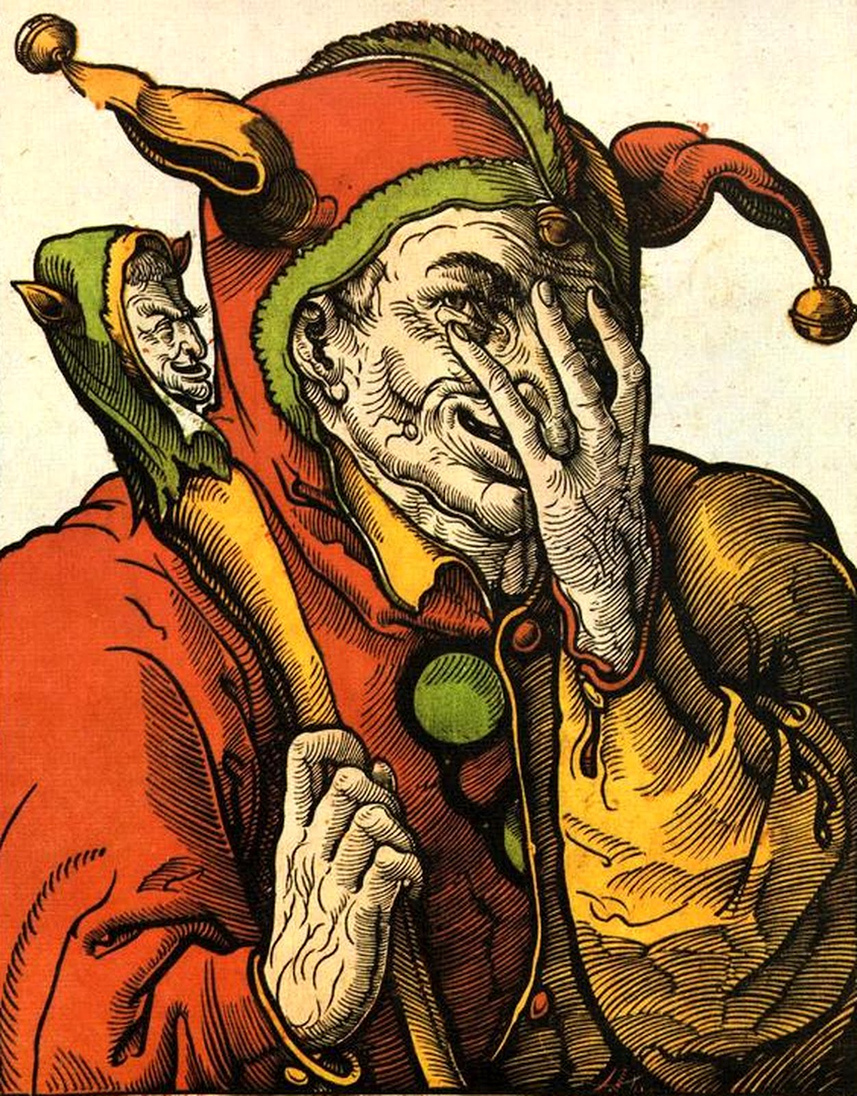 Fool From The Universal Waite Tarot: Der Schalcksnarr The Jester The Fool COLOR IMAGE Public