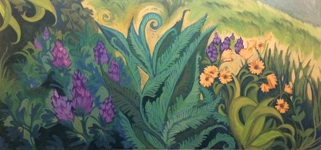 forest park portland, wildflower art, portland artist, portland mural, portland muralist, landscape mural, pacific northwest mural