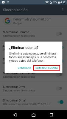 te saldrá un aviso para que canceles la eliminación de la cuenta de tu celular o para que la elimines definitivamente