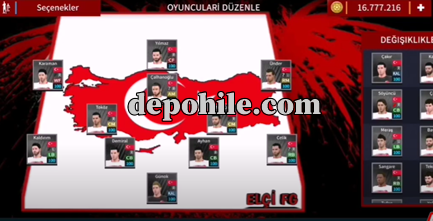DLS 21 Türkiye A Milli Takımı Yaması Forma ve Kadro Yeni