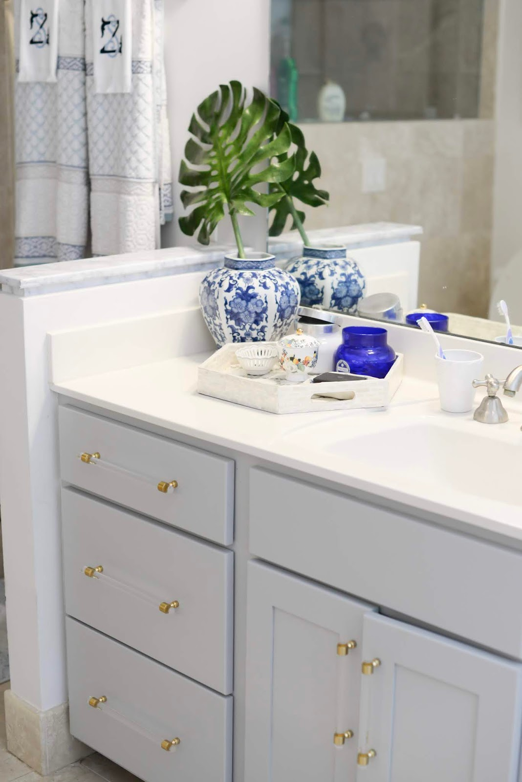 Painting Our Oak Bathroom Vanity Southern Style A Life Style Blog