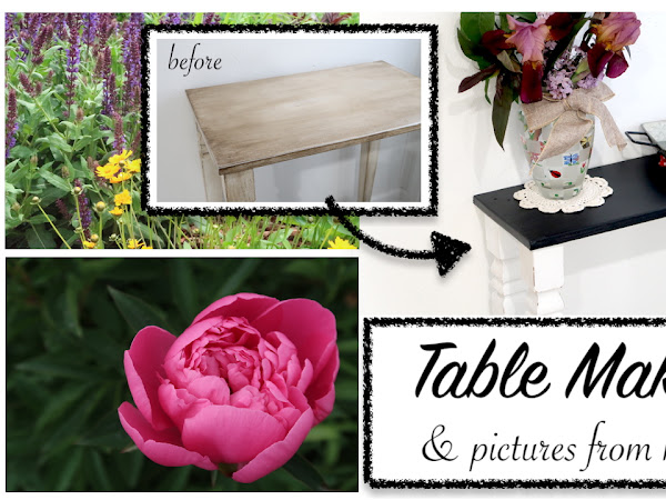 Furniture Update: Small Table Makeover