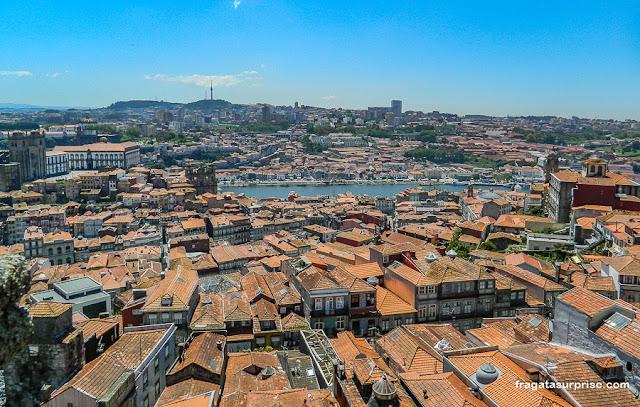 Cidade do Porto vista do alto da Torre dos Clérigos