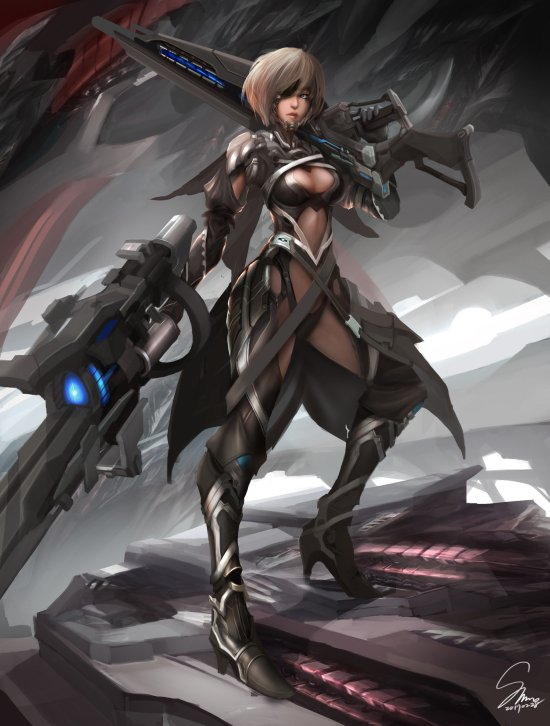 Shin Gurren artstation arte ilustrações fantasia mulheres ficção científica games