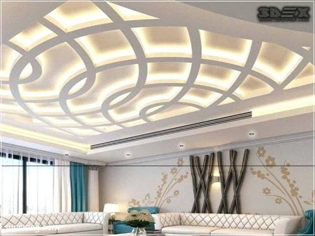 اسقف جبس بورد للصالات 15 | Gypsum Ceiling For Halls 15