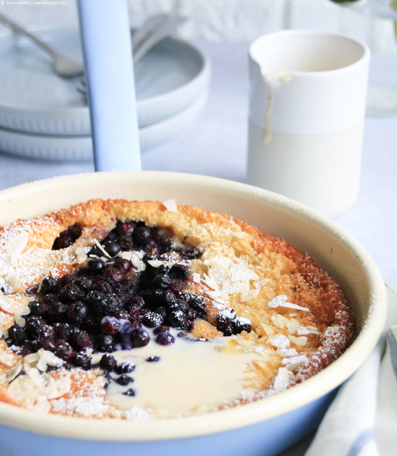 Blueberry Dutch Baby / Pfannenkuchen - whatinaloves.com