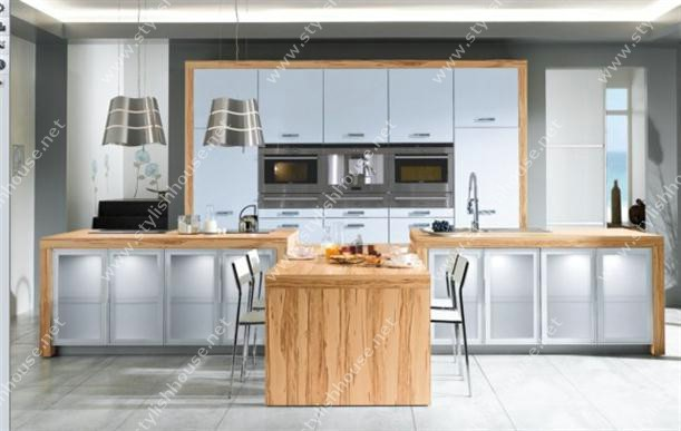 Rustic style with Contemporary French Style Kitchen Designs for stylishly house