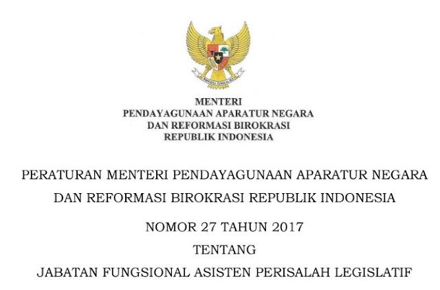 Permenpan RB Nomor 27 Tahun 2017