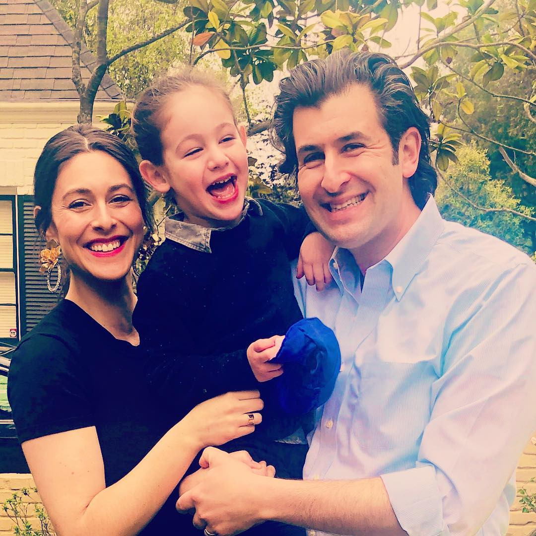 Erielle Reshef with family