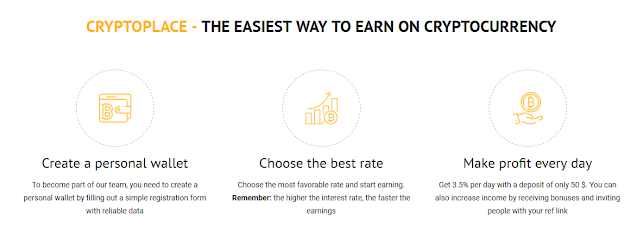 CryptoPlace - The Easiest Way to Earn on Cryptocurrency