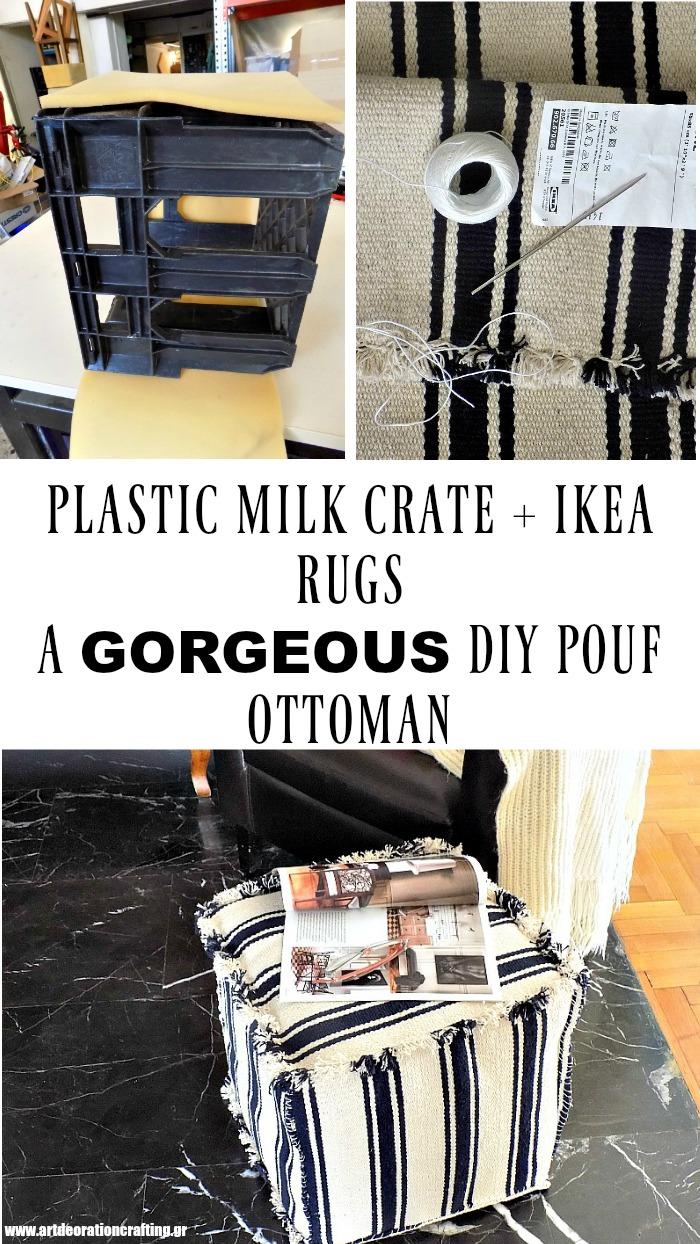 How to make a diy pouf ottoman