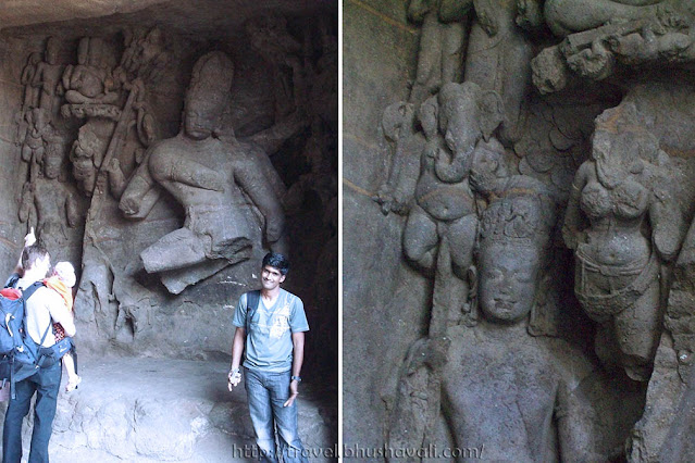 Caves of elephanta sculptures Shiva as nataraja