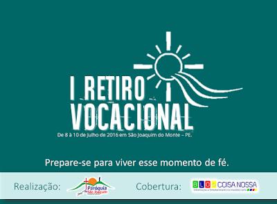 1º Retiro Vocacional para Jovens será realizado em São Joaquim do Monte.