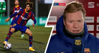 Koeman gives reason behind Puig's early substitution in Cornella win