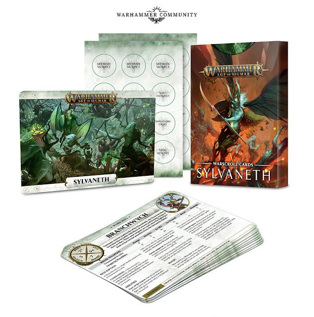 Battletome Sylvaneth y warscroll cards