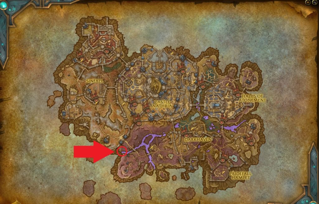 This is where you can find the Worlds Edge Eater, if you can summon it.