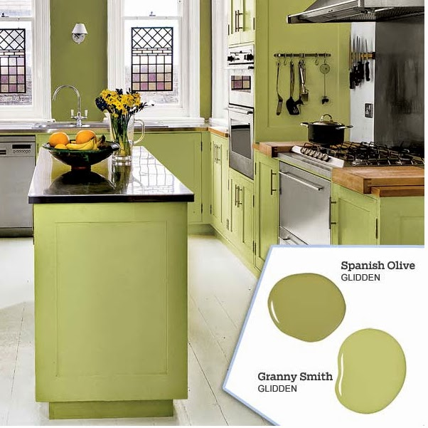 Benjamin Moore Aganthus Green: Spanish Olive Paint Color