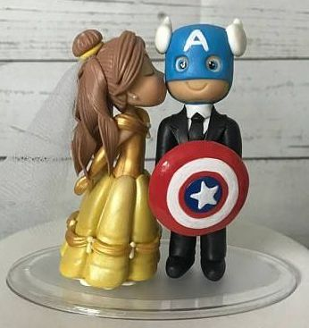 Chibi And Romantic Avengers Wedding Cake Toppers Wedding Celebration