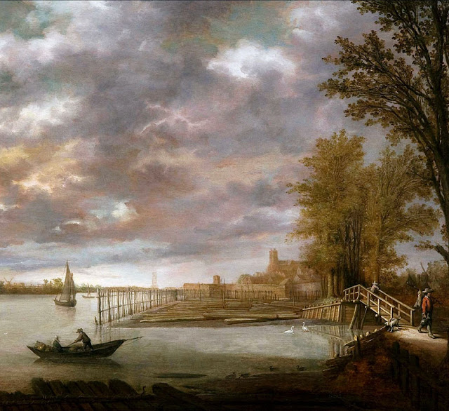 Альберт Кёйп - Склад пиломатериалов близ Дордрехта. 1639