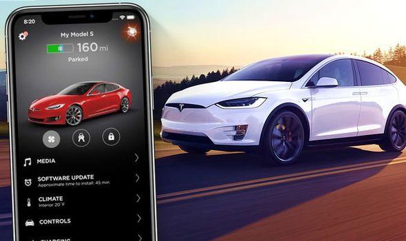 Application Tesla iphone