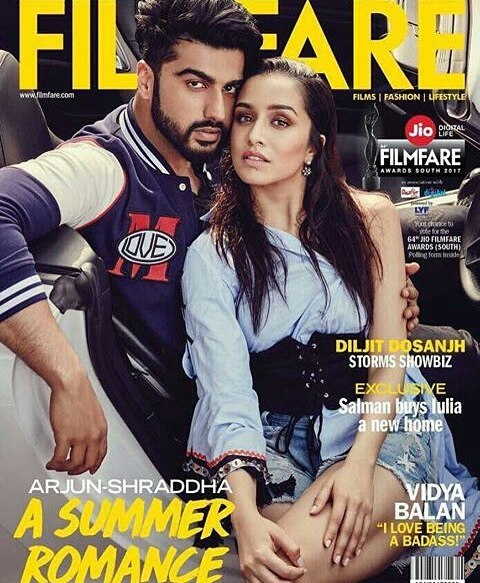 Arjun Kapoor and Shraddha Kapoor - Filmfare May 2017 Cover