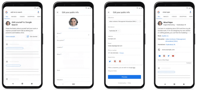 How to create Google People Card