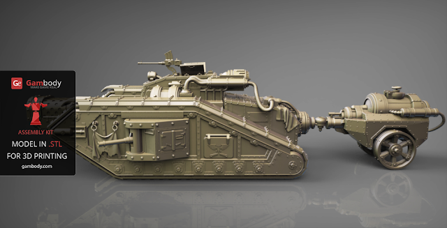 Malcador Infernus Tank 3D Print Model | 40K 3D Models by Adam