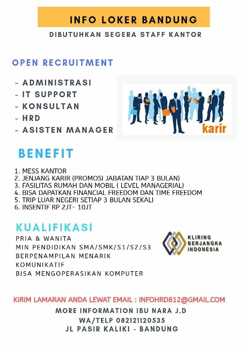 Lowongan Kerja PT. Kontak Perkasa Indonesia Bandung November 2020