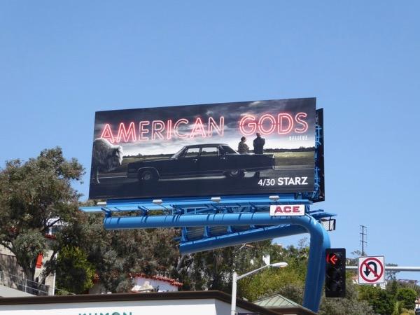 American Gods series premiere billboard