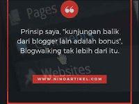 Cara Blogwalking yang Benar Untuk Penulis Blog