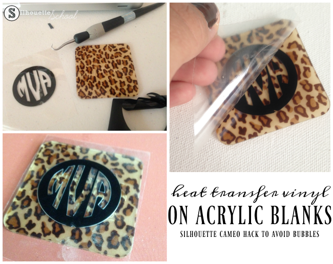 Putting Heat Transfer Vinyl on Acrylic Blanks to Avoid