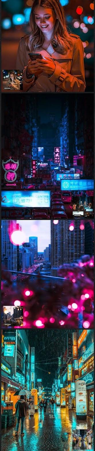 CyberPunk Neon Photo Filters Photoshop Action 26775858