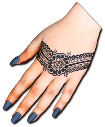 Back Hand Simple Mehndi Design