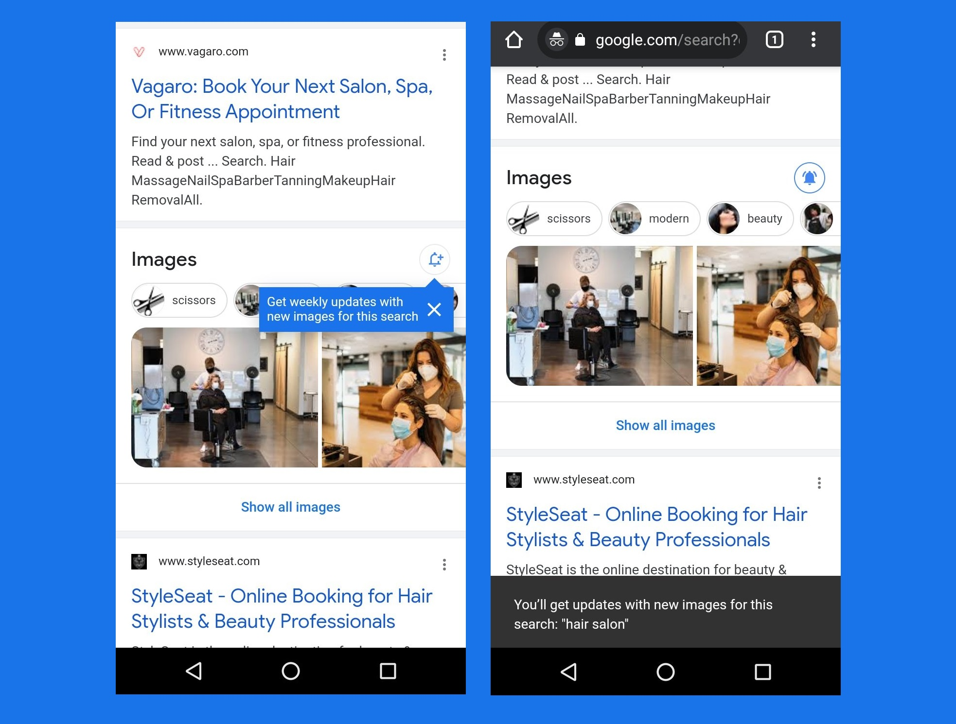 Google Enlarges Search Results for Product Reviews and Introduces a Bell Icon for Image Searches