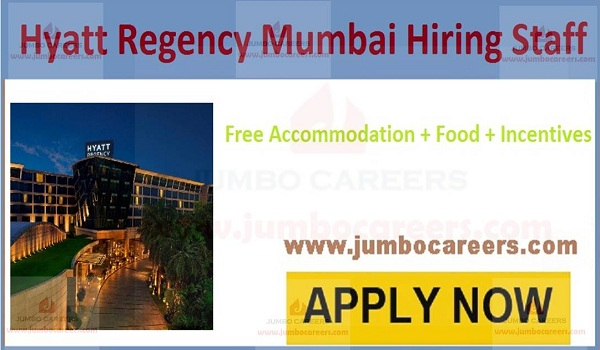 Mumbai hotel jobs with food and accommodation,