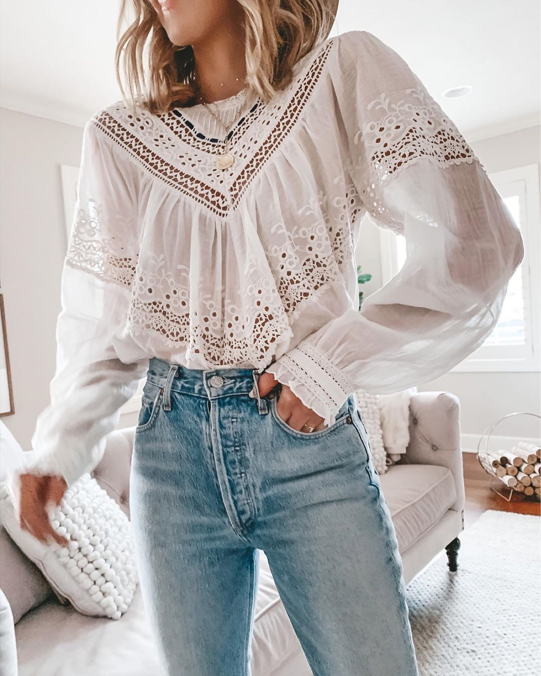 The Prettiest Feminine White Blouses for Spring