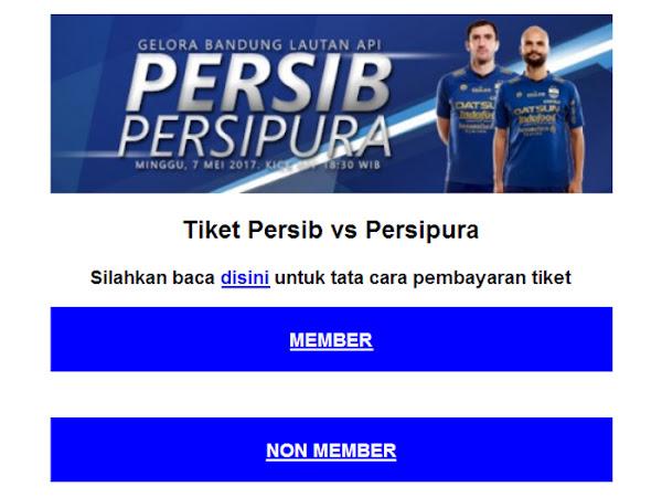 Tiket Persib VS Persipura Jayapuar 7 Mei 2017