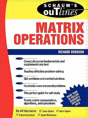 [PDF] Schaum's Outline Theory And Problem of Matrix Operations